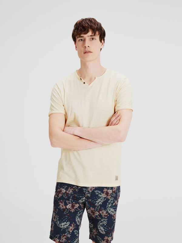 JACK & JONES Split-Neck T-Shirt
