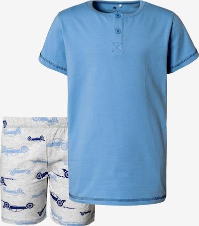 CELAVI Schlafanzug in hellblau / graumeliert, Produktansicht