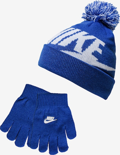 Nike Sportswear Set 'Swoosh Pom' in blau / weiß, Produktansicht