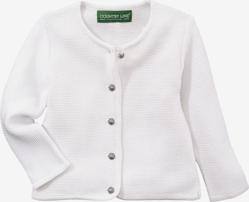 COUNTRY LINE Knit Cardigan in White