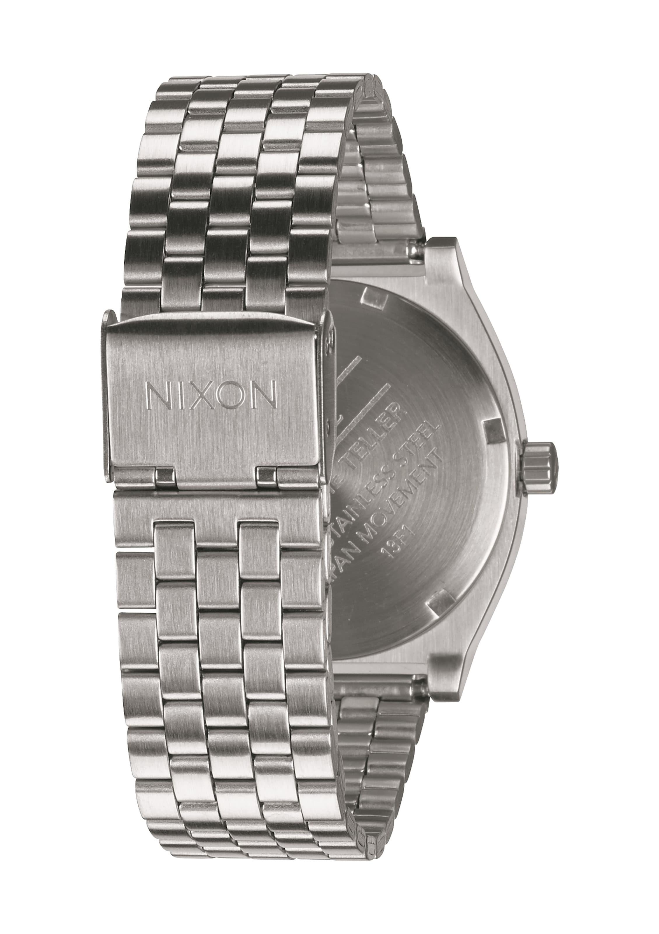 SchwarzSilber Armbanduhr Nixon 'time Teller' In rodCxBeQWE
