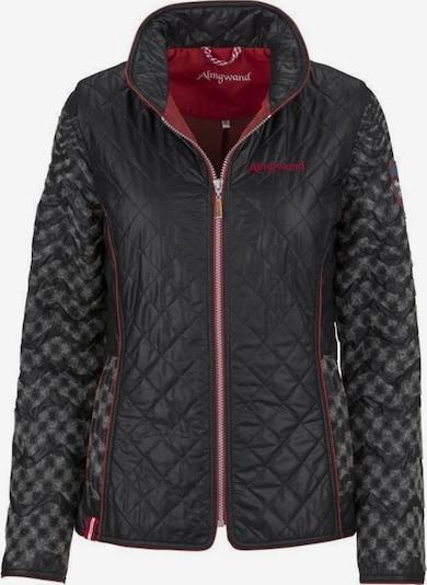 Almgwand Jacke 'Waid-2' in dunkelgrau / rot / schwarz, Produktansicht