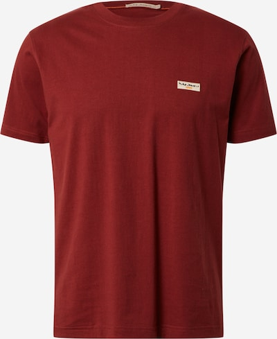 Nudie Jeans Co Shirt 'Daniel Logo' in rusty red, Item view
