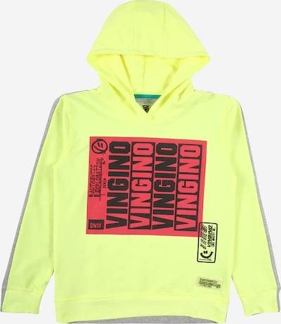 VINGINO Sweater majica 'Nubbel' u neonsko žuta / siva / ružičasta / crna, Pregled proizvoda