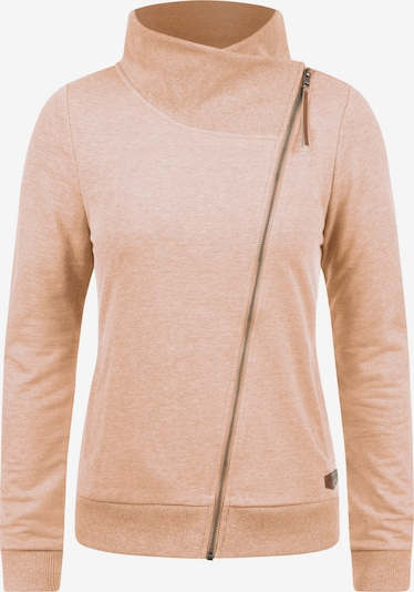 Desires Sweatjacke 'Candy' in apricot: Frontalansicht