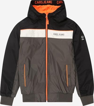 Cars Jeans Jacke 'Biscotto' in grau / orange / schwarz / weiß, Produktansicht