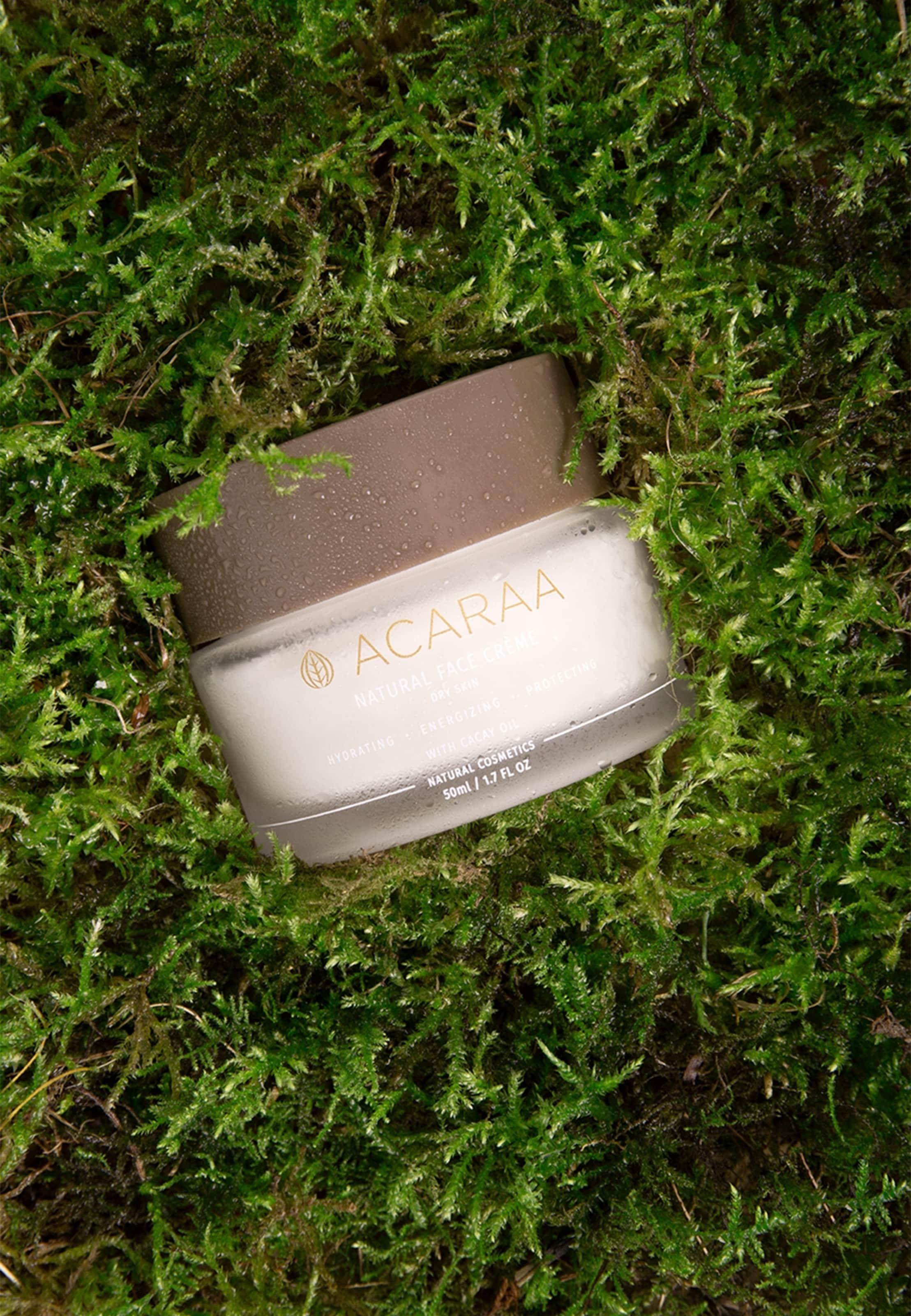 Naturkosmetik Acaraa Face Skin Cream In Gesichtscreme Natural 50ml Weiß Dry FJTl1Kc