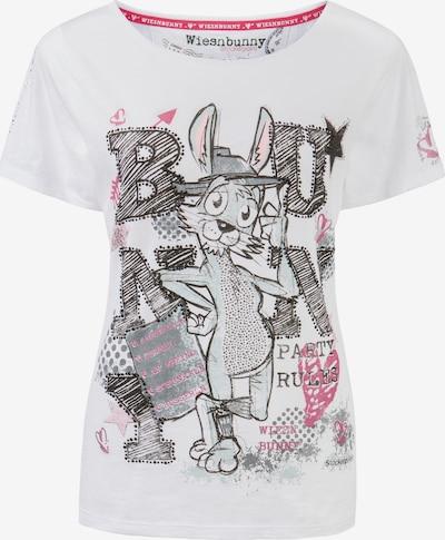 STOCKERPOINT Shirt 'Bussi Bunny' in pink / schwarz / weiß, Produktansicht