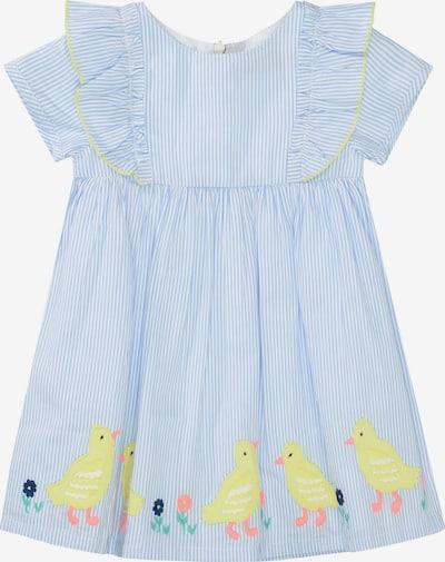 STACCATO Kleid in hellblau / gelb / weiß, Produktansicht
