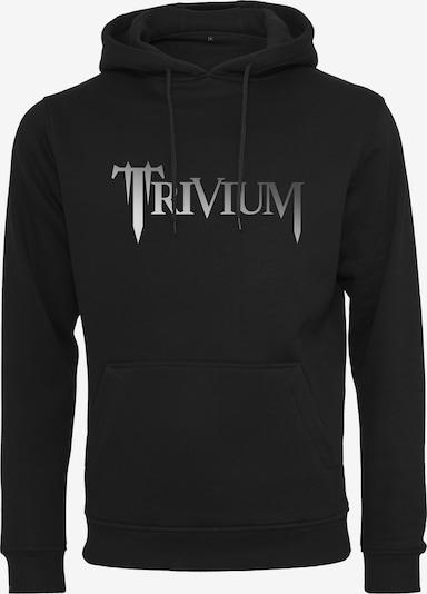 Mister Tee Hoody 'Trivium' in grau / schwarz: Frontalansicht