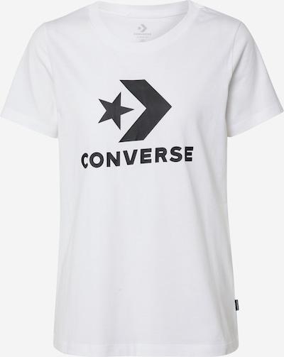 CONVERSE T-Shirt 'Star Chevron' in schwarz / weiß, Produktansicht