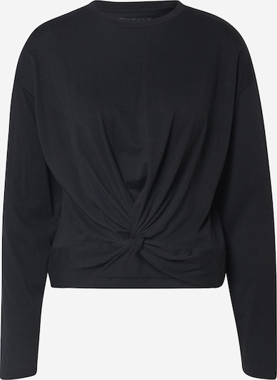 Noisy may Shirt  'NMOHILDA L/S KNOT TOP BG' in schwarz, Produktansicht