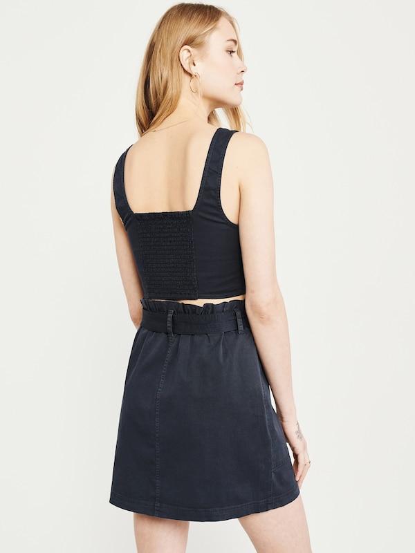 Abercrombie & Fitch Rock 'S119-SUMMER BELTED UTILITY SKIRT' in navy: Rückansicht