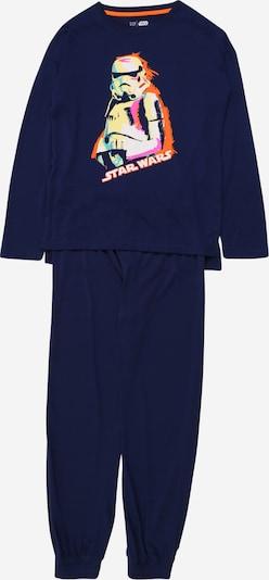 GAP Pyjama in dunkelblau / hellgelb / orange, Produktansicht