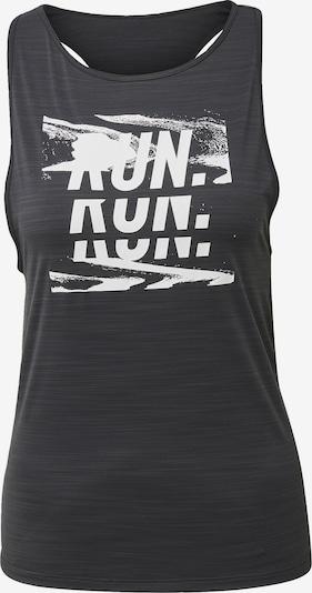 REEBOK Shirt in schwarzmeliert / weiß, Produktansicht