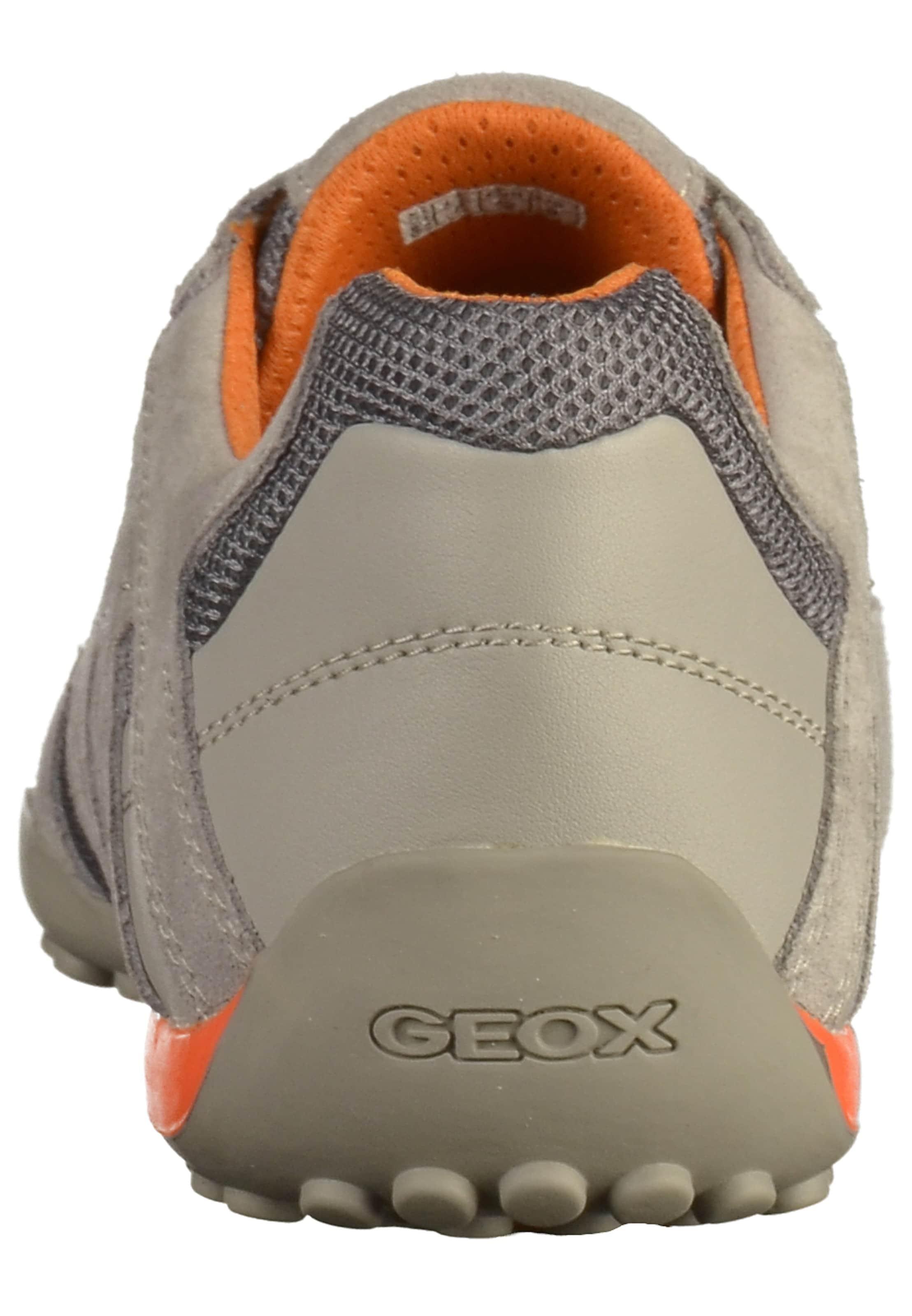Sneaker Dunkelorange Geox In BeigeRauchgrau Geox nv8ym0wNO