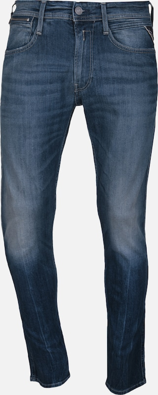 REPLAY Jeans 'Anbass' in blue denim: Frontalansicht