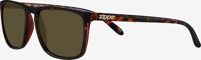 ZIPPO Sonnenbrille eckig slim 'Brown Flash' in braun, Produktansicht