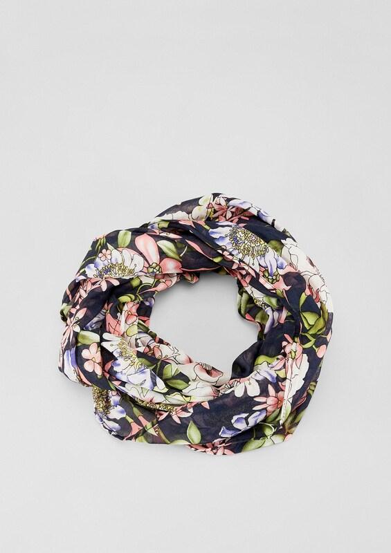 s.Oliver RED LABEL Loop mit floralem Print