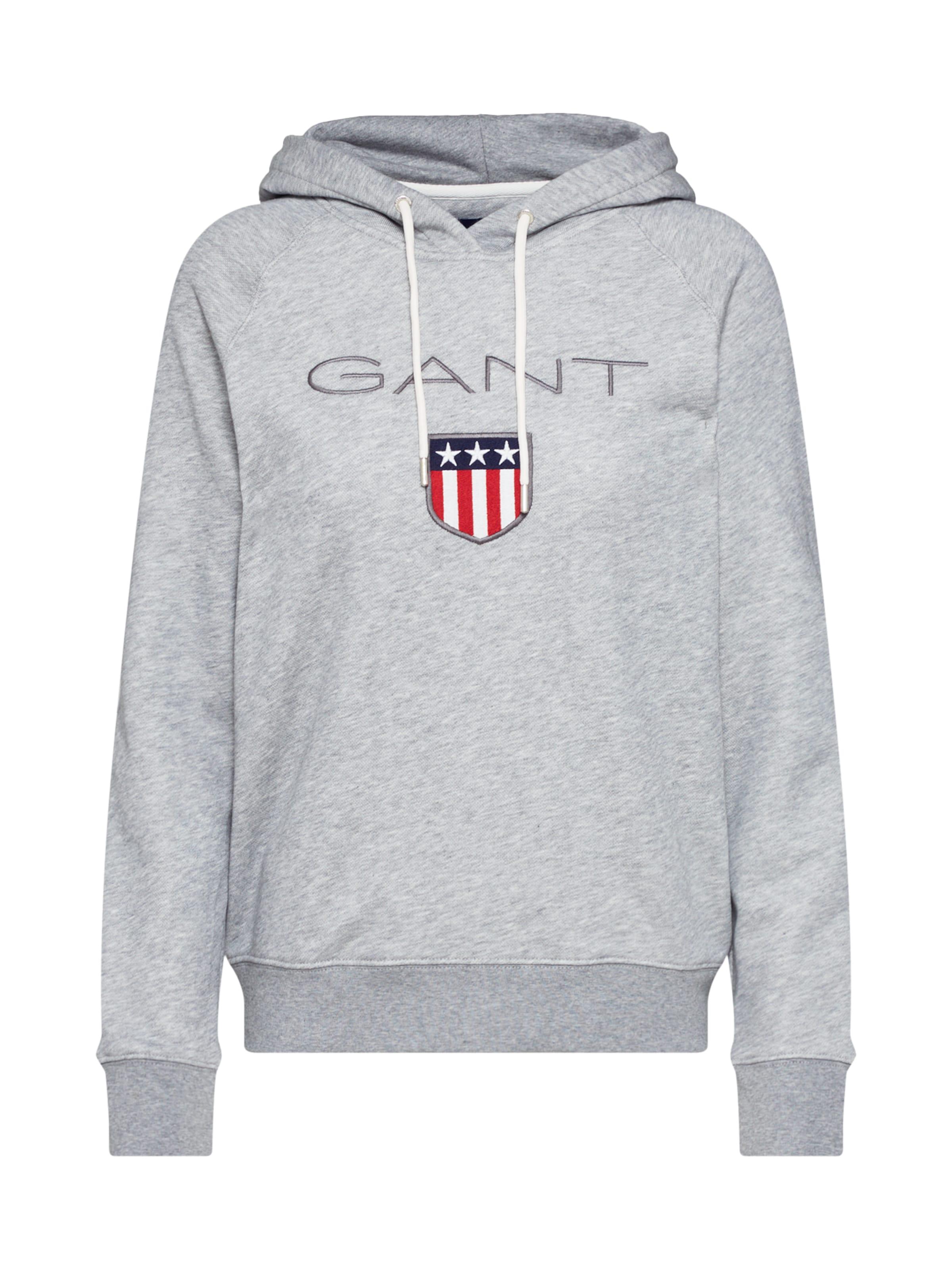 Gris Chiné Gant En 'shield' Sweat shirt 8ZONn0wXPk