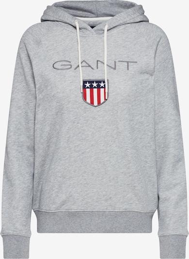 GANT Sweater majica 'Shield' u siva melange, Pregled proizvoda