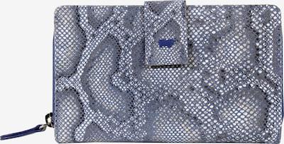 Braun Büffel Geldbörse MIRA L 14CS mit Reptilienprägung in blau, Produktansicht