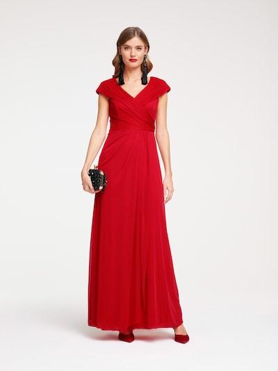 Vakarinė suknelė iš heine , spalva - raudona, Modelio vaizdas