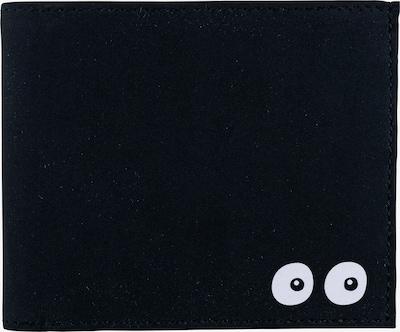 OXMOX Geldbörse 'New Cryptan' 12cm in schwarz / weiß, Produktansicht