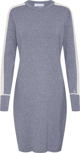 Calvin Klein Společenské šaty 'LS KNITTED SWEATER DRESS' - šedá, Produkt