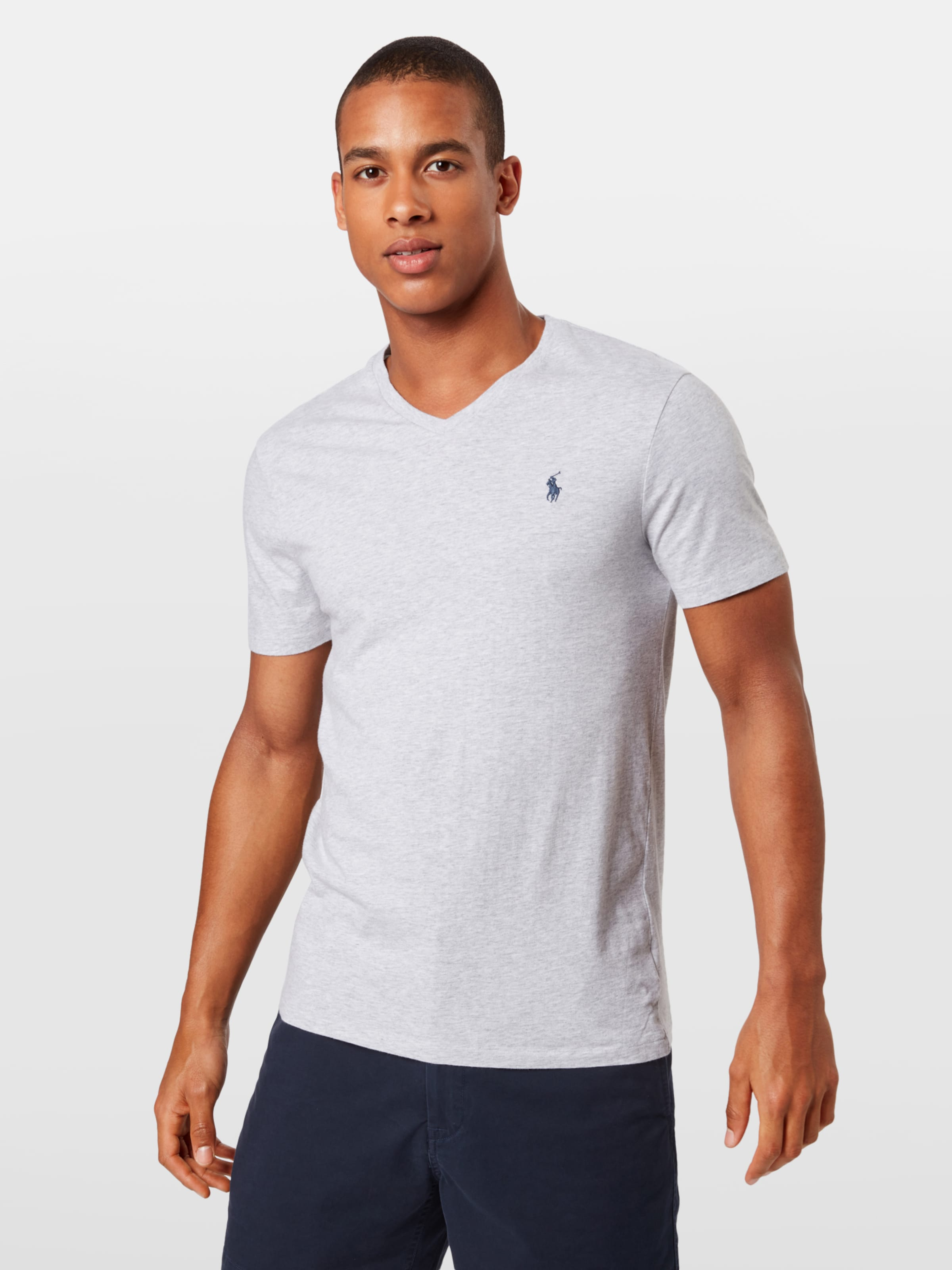 Sleeve T shirt Ralph Gris Lauren 'ssvncmslm3 short shirt' En Polo t R3L45jqA