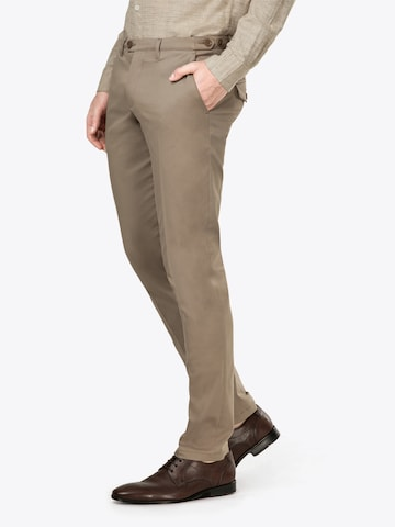 DRYKORN Trousers with creases 'Kill' in Beige