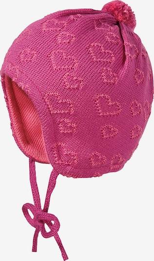 MAXIMO Bommelmütze in rosa / dunkelpink, Produktansicht