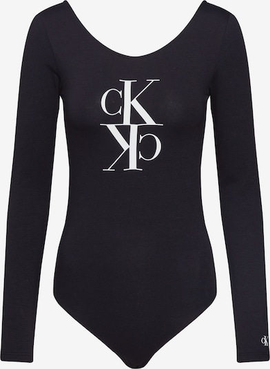 Calvin Klein Jeans Bodyshirt 'MIRRORED MONOGRAM BODY' in schwarz, Produktansicht