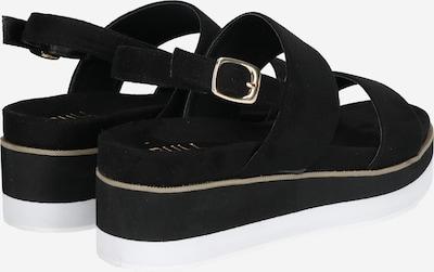 BULLBOXER Sandale in schwarz: Rückansicht