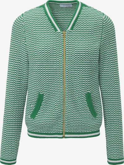 Looxent Strickjacke in grün / weiß, Produktansicht