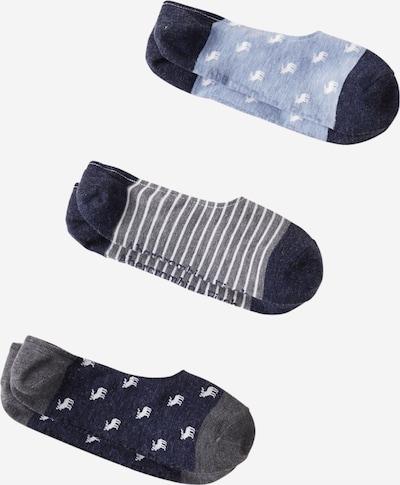 Abercrombie & Fitch Füßlinge 'No Show' in hellblau / blaumeliert / graumeliert / weiß, Produktansicht
