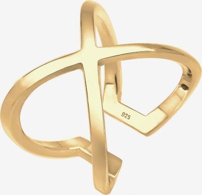 ELLI Ring 'Kreuz' in gold, Produktansicht