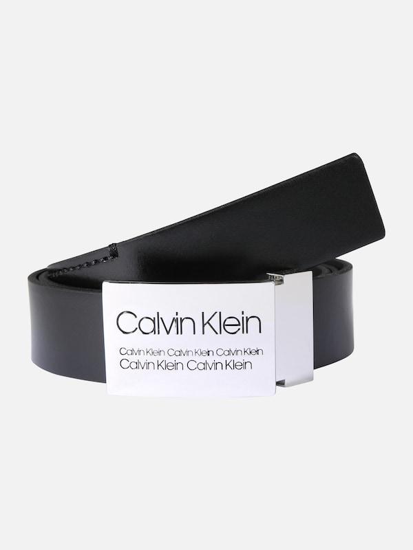 276a3bc107129 Calvin Klein Pasek  3.5CM INDUSTRIAL PLAQUE BELT  w kolorze czarnym ...