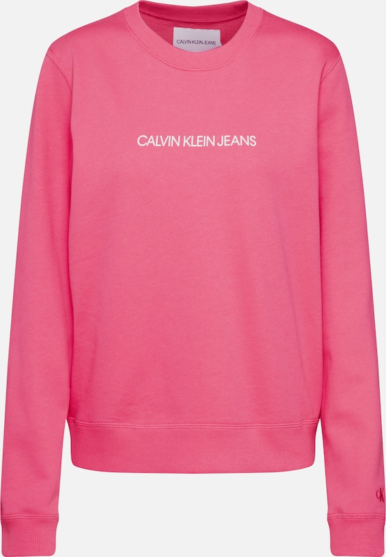 Calvin Klein Jeans Sweatshirt 'INSTITUTIONAL' in pink, Produktansicht