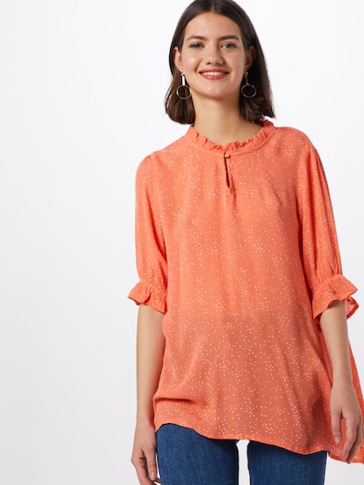 Kaffe Bluse 'Amber' in koralle, Modelansicht