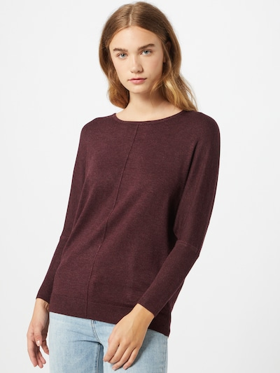 b.young Pullover 'Pimba' in weinrot, Modelansicht