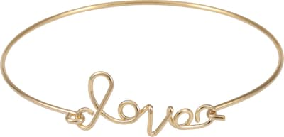 Blond ACCESSORIES Armreif 'Solid love written'