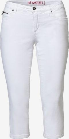 SHEEGO Teksapüksid, värv valge