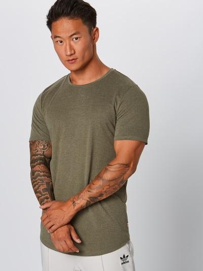 JACK & JONES Shirt 'EHUGO' in de kleur Olijfgroen: Vooraanzicht