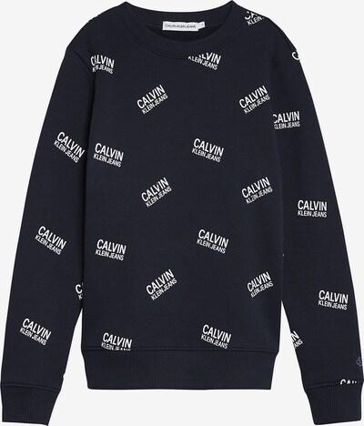 Calvin Klein Jeans Sweatshirt in kobaltblau / weiß, Produktansicht