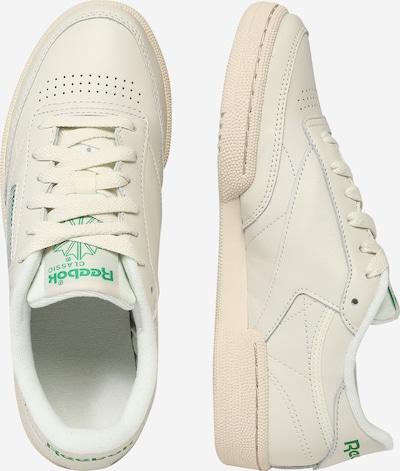 Reebok Classic Sneaker 'Club C' in beige / grün: Seitenansicht