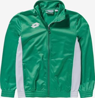 LOTTO Sweatjacke in grün / weiß, Produktansicht