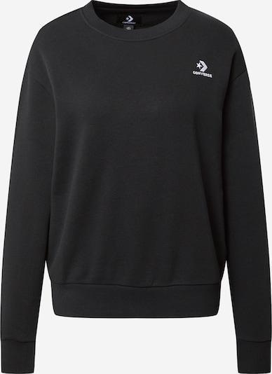 CONVERSE Sweatshirt in schwarz / weiß: Frontalansicht