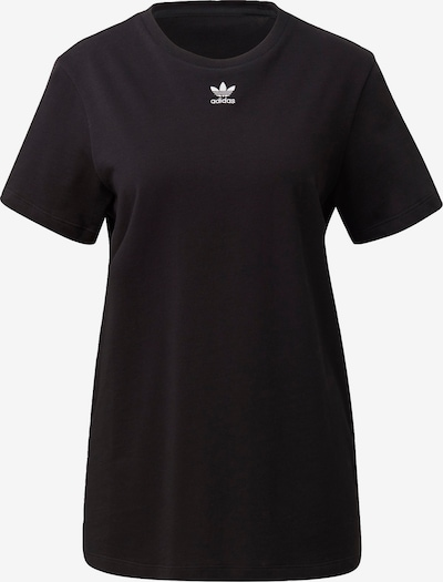 ADIDAS ORIGINALS T-Shirt 'Trefoil Essentials' in schwarz / weiß, Produktansicht