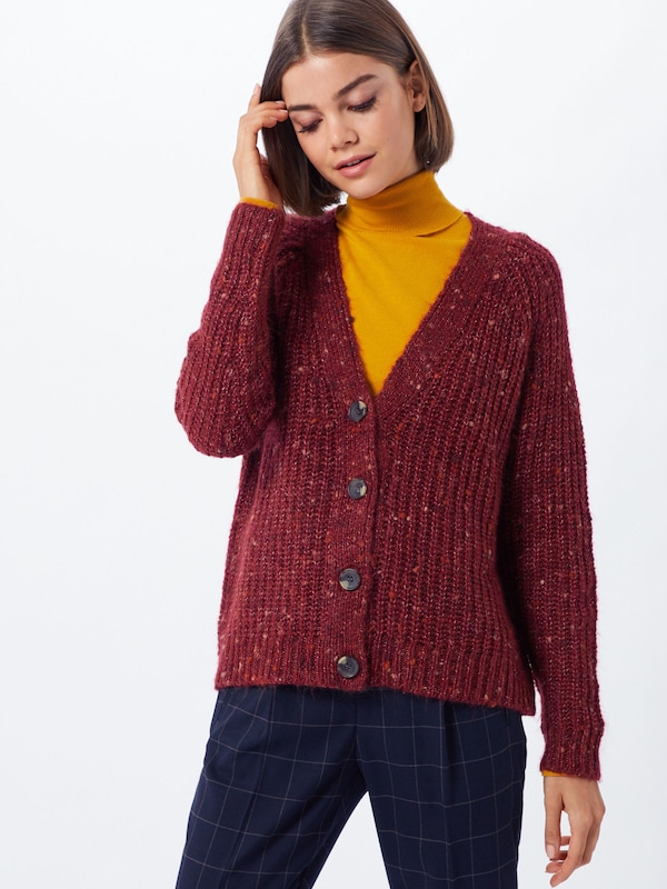 ONLY Pullover 'HANNI' in weinrot, Modelansicht
